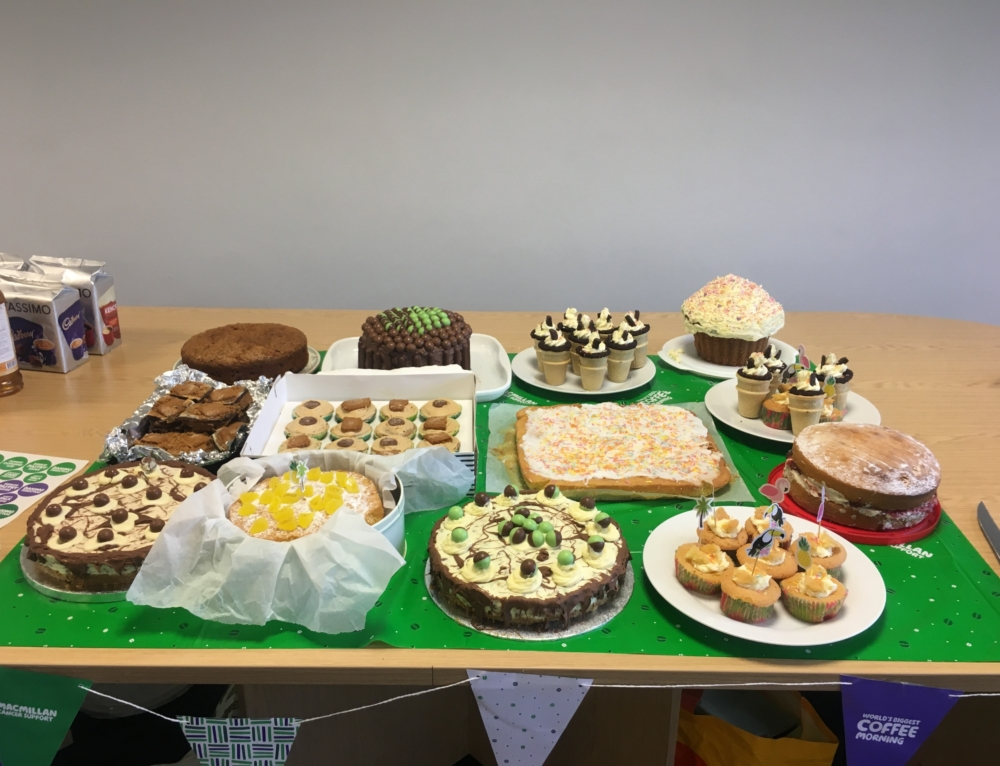 A Grand Total of £316.87 raised from our Macmillan Coffee Morning